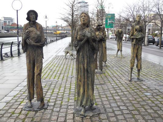 Irland, Dublin, Sehenswürdigkeiten, The Famine Sculpture