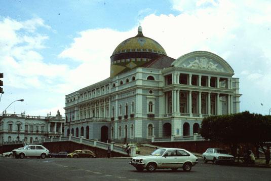 Brasil, Brasilien, Manaus, Theater, teatro, Zentrum, Skyline