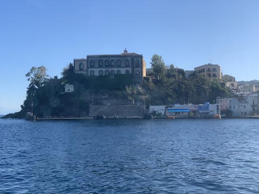 Sizilien, Liparische Inseln, Äolische, Lipari, Hafen, Burg, Sehenswürdigkeit