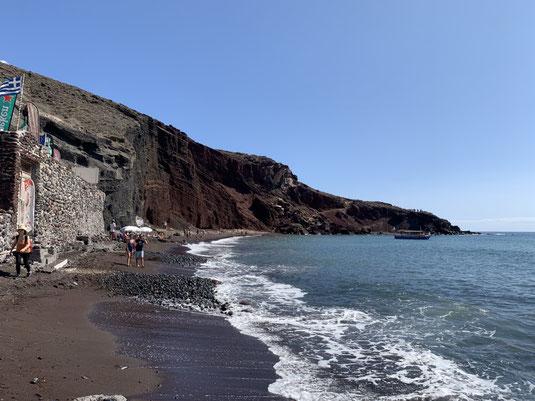 Santorini, Griechenland, Steilküste, Red Beach, Akrotiri