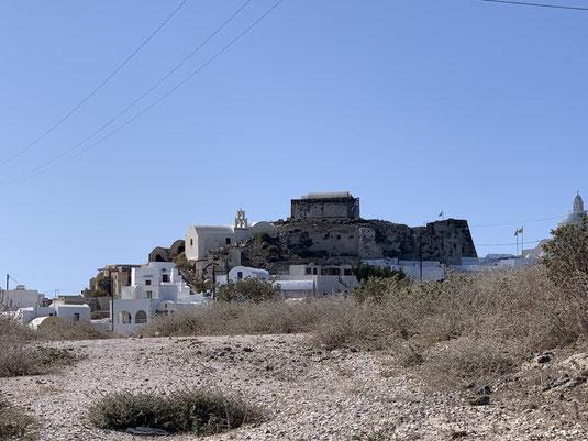 Santorini, Griechenland, Akrotiri, Burg, , Caldera