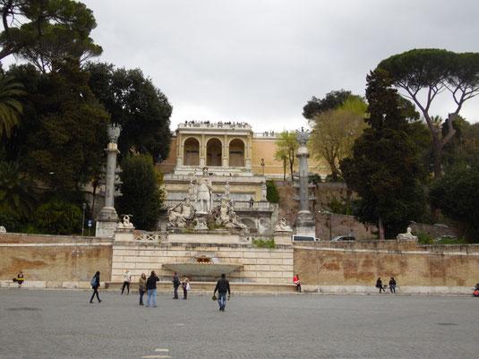 Italien, Rom, Piazza del Popolo, Terrazza del Pincio