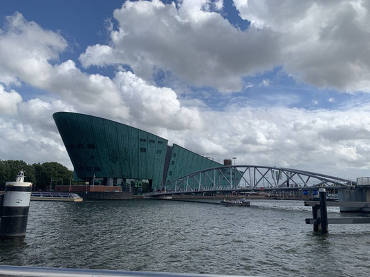 Niederlande, Holland, Amsterdam, Zentrum, Grachten, Amstel, Hafen, Nemo Museum, Schiff, Schiffsrumpf, Ijtunnel