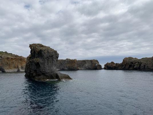 Sizilien, Liparische Inseln, Äolische, Panarea, Cala Junco, Strand, Sehenswürdigkeit, Bucht, Baden, Strand