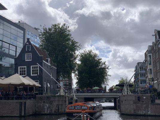 Niederlande, Holland, Amsterdam, Zentrum, Grachten, Amstel, Sluyswacht, Schleusenhaus, Schleusenwärterhaus, Oudeschans