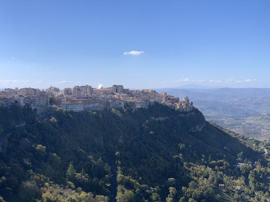 Italien, Sizilien, Sehenswürdigkeit, Enna, Berg, Dorf