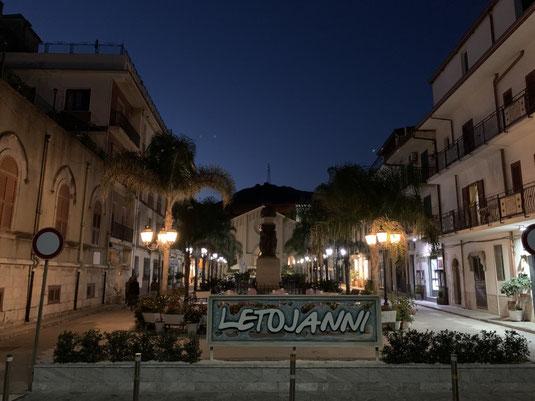 Italien, Sizilien, Sehenswürdigkeit, Letojanni, Zentrum, Café, Strand