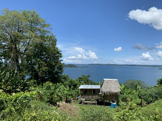 Panama, Karibik, Landstraße, Haus, Wohnhaus,