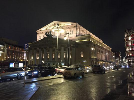 M;oskau, Bolshoi Theater bei Nacht