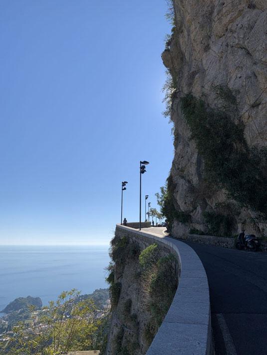 Italien, Sizilien, Sehenswürdigkeit, Taormina, Castelmola, Serpentine