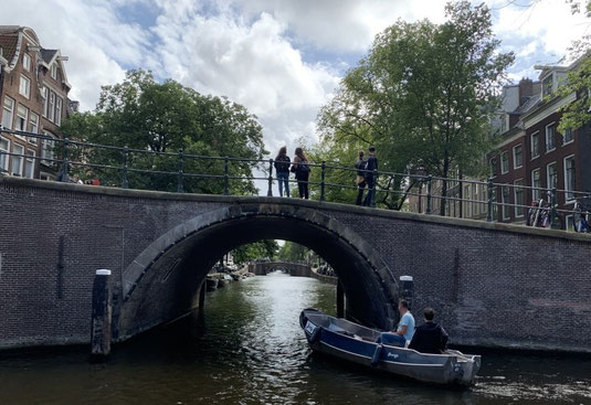 Niederlande, Holland, Amsterdam, Zentrum, Grachten, 7 bridges in a row, 7 Brücken, Reguliersgracht