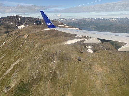 Norwegen, Oslo, Flug, Tromsö, Landung