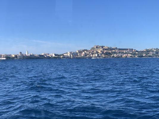 Italien, Sizilien, Sehenswürdigkeit, Milazzo, Liparische Inseln, Burg, Hafen, Fähre
