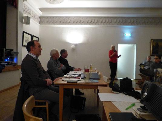 Podium mit Josef Fortner, Ludwig Maier, Josef Bodmeier und Dr. Brigitte Reuke