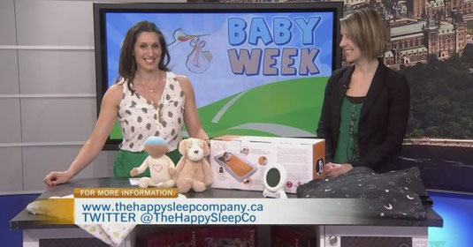 Erin Junker, Professional Infant & Toddler Sleep Consultant, with Lianne Liang of CTV Morning Live