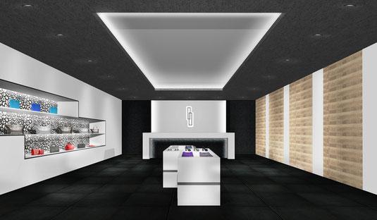 福岡市のインテリアデザイン事務所、店舗設計デザインのnero design office。おしゃれな物販店の内装工事