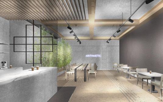 福岡市のインテリアデザイン事務所、店舗設計デザインのnero design office。おしゃれなカフェの内装工事