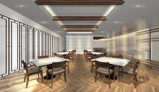 福岡市のインテリアデザイン事務所、店舗設計デザインのnero design office。おしゃれな飲食店の内装工事
