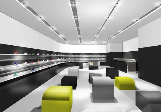福岡市のインテリアデザイン事務所、店舗設計デザインのnero design office。おしゃれアパレルの内装工事