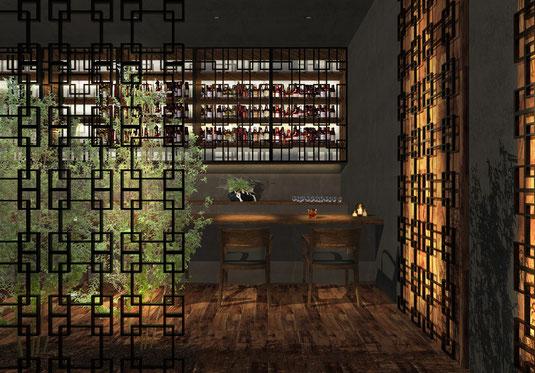 福岡市のインテリアデザイン事務所、店舗設計デザインのnero design office。おしゃれなバーの内装工事