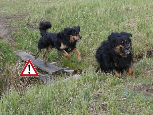 Vorsicht: Allgemeine Gefahrenstelle!