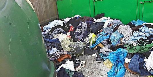 Altkleider, Sperrmüll, Hausmüll, Verpackungen: Seit Jahren wird an der Müllsammelstelle Am Hechtkamp in Berenbostel illegal Müll abgeladen. Quelle: privat