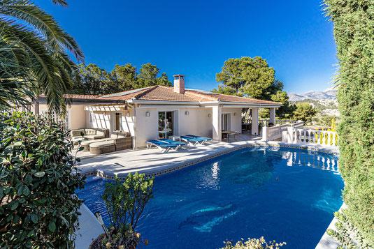 Albir, Alfaz del Pi, villa, 6 person,pool, luxe,sea sight, dishwasser, Costa Blanca, Alicante.
