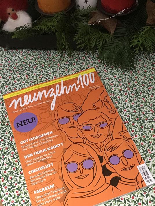 Neunzehn100 - Das Magazin der Erinnerungsanlässe. Die Zweite Ausgabe 2017 ab sofort im Zeitungsgeschäft. Foto: www.collage-gallery.de