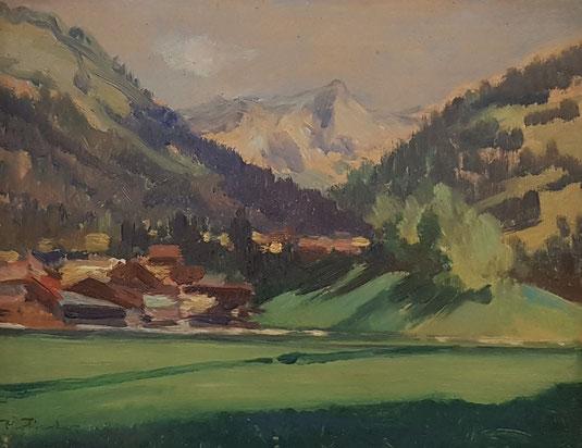 VAUD, le canton de Vaud. peinture, peintres vaudois, village vaudois, galerie Lausanne, Charles Clément, galerie de tableaux, antiquités, Château-d'Oex
