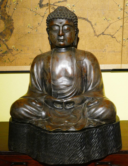 Statue en bronze de Bouddha Amida, Japon, Statue en bronze de Bouddha Amida, Japon, Statue en bronze de Bouddha Amida, Japon, Statue en bronze de Bouddha Amida, Japon