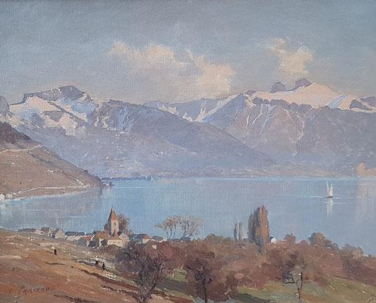VAUD, le canton de Vaud. peinture, peintres vaudois, village vaudois, galerie Lausanne, Charles Clément, galerie de tableaux, antiquités Cully