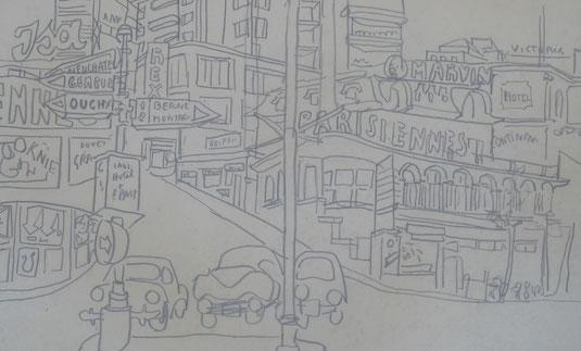 Lausanne, château Saint- Maire, tableaux vaudois, Lausanne vue par les peintres, Jean-Victor BERTIN, la cité, rue du Petit-Chêne, Géa AUGSBOURG, GEA