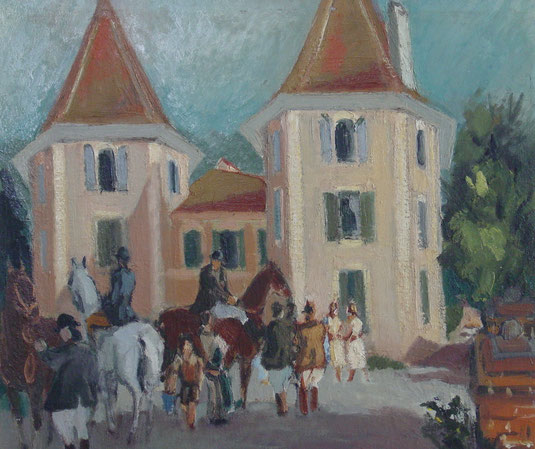Lausanne, château Saint- Maire, tableaux vaudois, Lausanne vue par les peintres, Jean-Victor BERTIN, la cité, château de Béthusy, Raoul DOMENJOZ