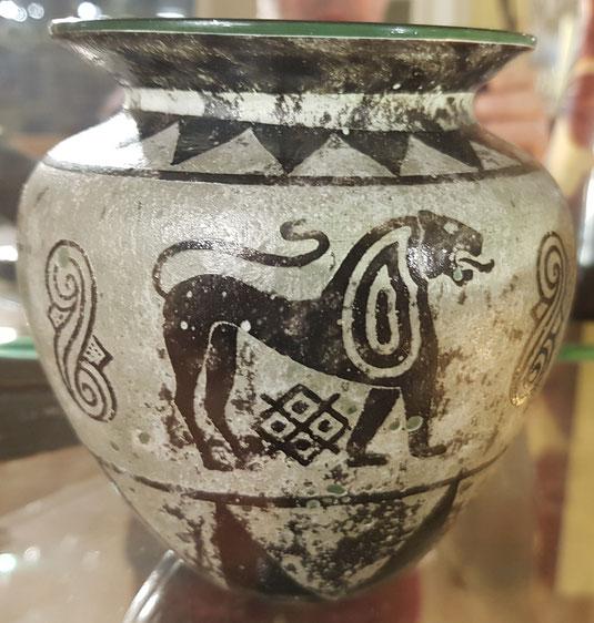 verrerie de St-Prex, vase gravé à l'acide, Gallé, Daum, Daum Frères, Tiffany, Art Nouveau, galerie de tableaux Lausanne, Lausanne, galerie