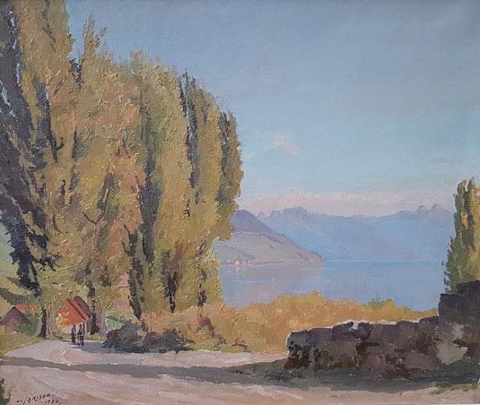 VAUD, le canton de Vaud. peinture, peintres vaudois, village vaudois, galerie Lausanne, Charles Clément, galerie de tableaux, antiquités, Cully