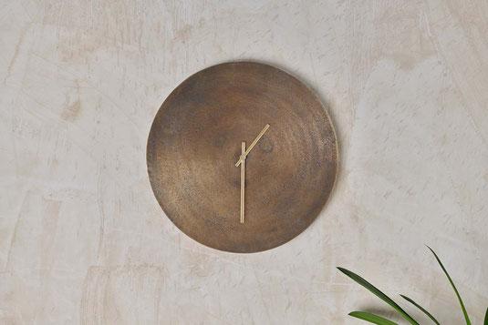 Dünner Premium Design Spiegel in feinem Antik Bronze-Messing Rahmen