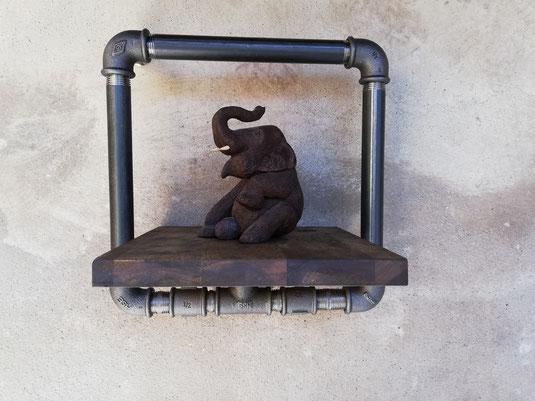 Loft Design 3D Wandregal Rahmen Schweberahmen Vintage Display Paneel Regal als Bilderrahmen 3 D Ablage für die Wand