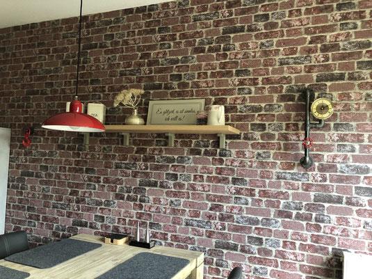 Industrial Wanduhr aus Eisenrohren im Steampunk Vintage Stil uns Cargo Wandhaken