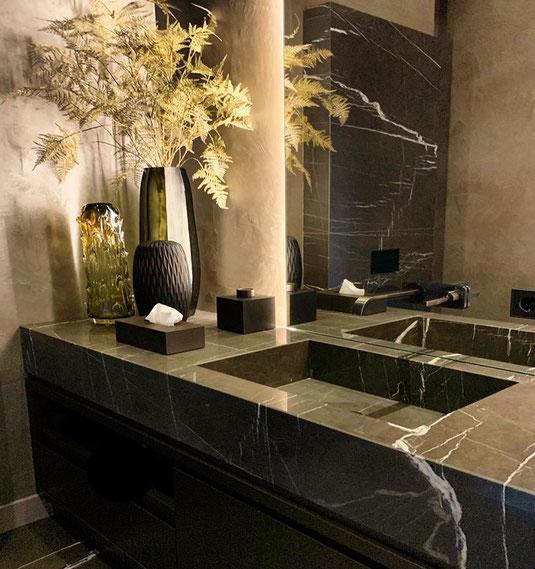 luxe wastafels van marmer voor badkamer