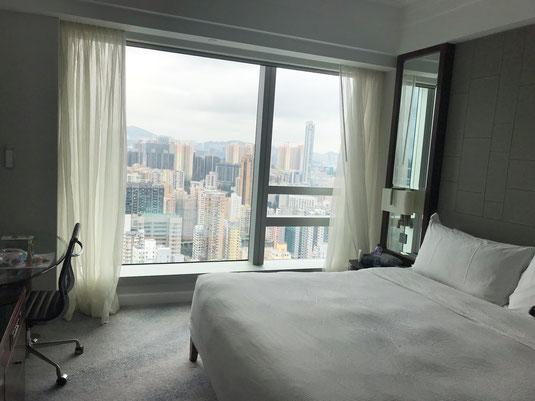 Schlafzimmer im Cordis Hotel