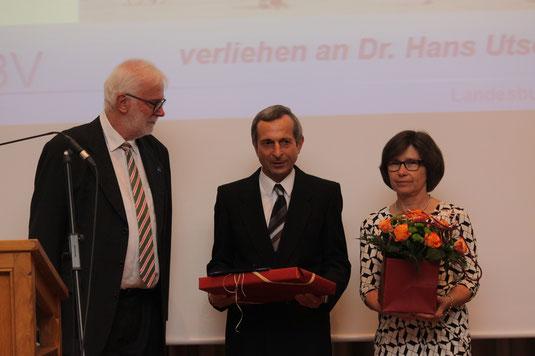 Prof. Hans Leppelsack, Preisträger Dr. Hans Utschik und Ehefrau