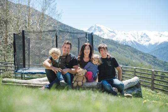 Diana & Andreas mit Tim & Nick, Juna & Teddy
