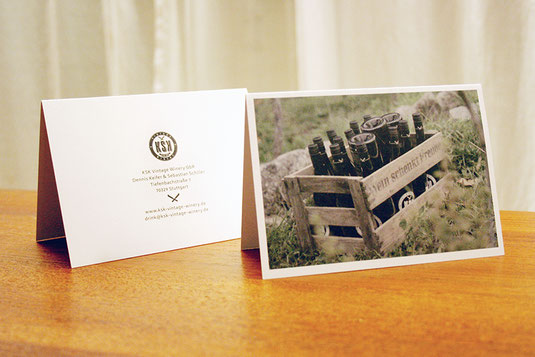 KSK Vintage Winery, Papeterie, Weihnachtskarte, Grußkarte, Design, Weingut, Wein, Crowdfunding, Stuttgart, Grafikdesign, Produktdesign
