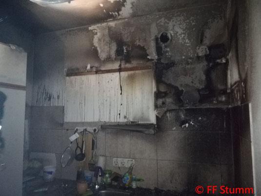 Feuerwehr, Blaulicht, BFV Schwaz, FF Stumm, Küchenbrand