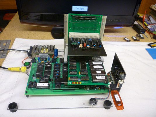 LLC2 Versuchsaufbau mit Modul1, USB, GIDE und V24