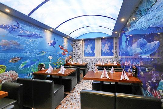 Ocean Restaurant . Nebenzimmer für Feste, Gruppen, Vereine und Hochzeitsfeiern.