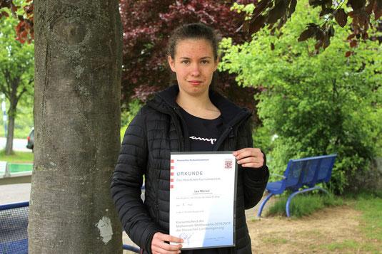 Lea Werwai: Kreissiegerin und erfolgreiche Teilnehmerin beim Landesentscheid.