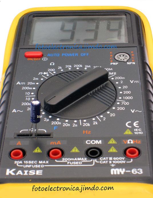 Escala de 10 microfaradios