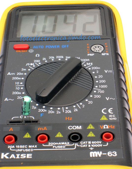 Escala de 2 microfaradio