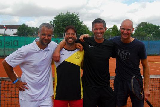 Herren 40 - Konkurrenz: die Halbfinalisten:  Patrik Gustafsson / TG Düsternbrook (2.), Lasse Korff / TG Ravensberg (1.), Guido Gehrke / TC Selk (4.) und Martin Schiller / Suchsdorfer SV (3.)